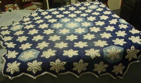 Snowflake Afghan - Art of Tangle