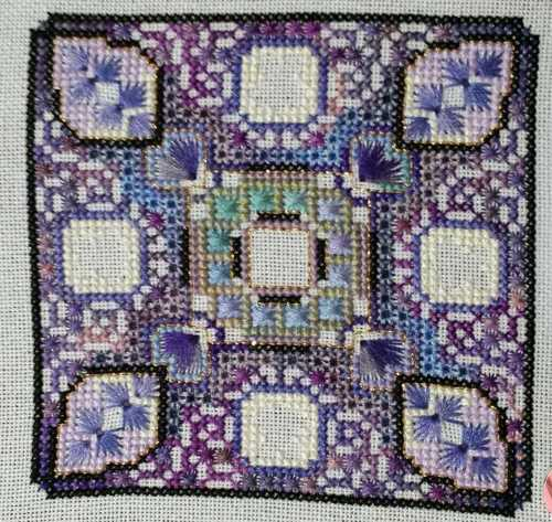 Violet mandala - inner square