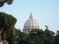 View from the Vatican Museum terrace