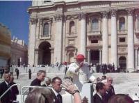 Pope Benedict XVI passes by