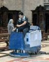 Zamboni cleaning St. Peter's Basilica