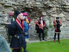 Reenactors at Middleham Castle