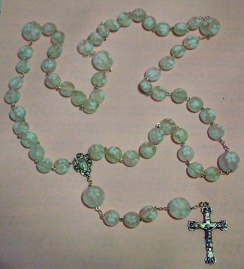Rosary with beads made by Karin